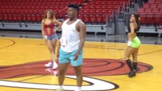 Este sujeto se robó el show en la audición de porristas del Miami Heat