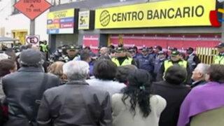 Surco: clausuran centro bancario de empresa Prosegur