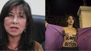 Martha Chávez y su polémico comentario sobre la campaña #DéjalaDecidir