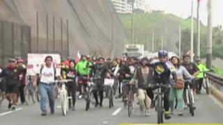 Ciclistas protestan por muerte de compañero y exigen la construcción de ciclovías