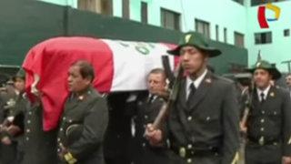 El Agustino: sepultan a policía muerto en explosión durante operativo de desalojo