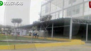 WhatsApp: denuncian que municipio de VMT construye en plena vía pública