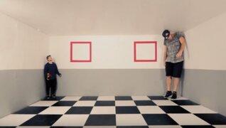 Jóvenes sorprenden con increíbles acrobacias del parkour e ilusiones ópticas