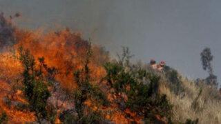Huari: Incendio forestal pone en peligro el Parque Nacional Huascarán