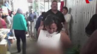Ayacucho: detienen y pasean desnuda a joven que fue descubierta robando
