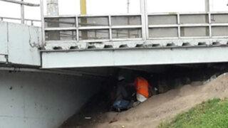 Intervienen a delincuentes que usaban como guarida los puentes de Vía Expresa