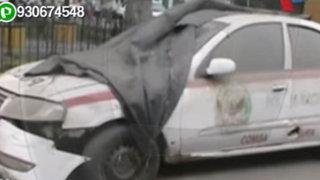 Denuncian patrullero abandonado en Plaza de Armas de Lurín