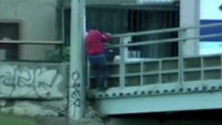 Ladrones y sujetos de mal vivir se apoderan de los puentes en la Vía Expresa