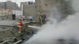 Incendio destruye almacén de bicicletas en La Victoria