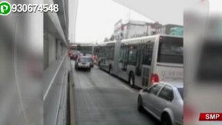 SMP: vehículos particulares invaden impunemente vía del Metropolitano