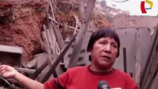 Vecinos alarmados: muros de contención se desmoronan en El Agustino