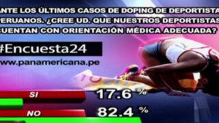 Encuesta 24: 82.4% no cree que deportistas tengan buena orientación médica