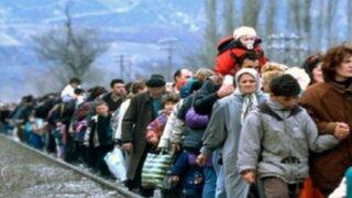 El drama de los refugiados luchando por sobrevivir