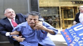 Guardaespaldas de Donald Trump agreden a manifestante mexicano