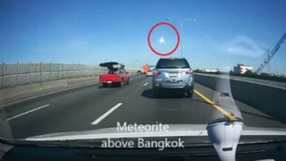 Impactantes imágenes: caída de meteorito causa alarma en Tailandia