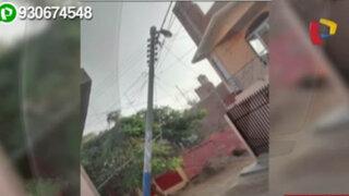 Chiclayo: moradores de Ferreñafe preocupados por poste a punto de caer
