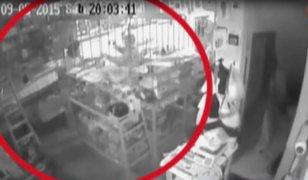 Trujillo: cámaras de seguridad captan violento asalto en ferretería