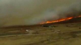 EEUU: luchan contra incendios forestales en Utah