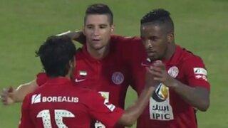 Jefferson Farfán anotó su primer gol con Al Jazira en la liga Árabe