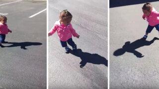 YouTube: así fue la reacción de una niña al ver su sombra por primera vez