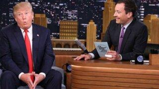 EEUU: Jimmy Fallon realiza divertida entrevista a Donald Trump