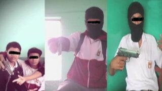 Lambayeque: escolares se toman fotografías con arma y pasamontañas