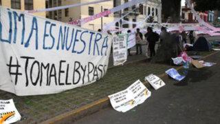 Vecinos protestan por obras del by pass 28 de Julio