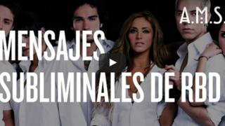 Encuentran aterradores mensajes subliminales en canciones de RBD