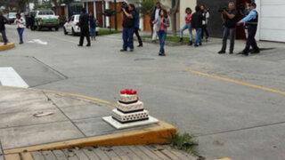 Una maqueta de torta generó falsa alarma de bomba en Surco