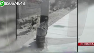 Chosica: vecinos en constante peligro por poste a punto de caer