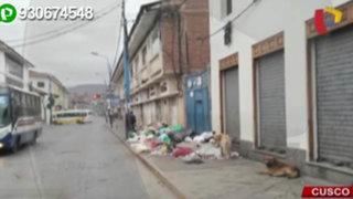 Cusco: centro de la ciudad amaneció con montículos de basura