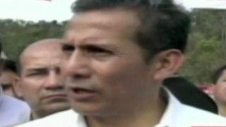 Cajamarca: Ollanta Humala vuelve a criticar el trabajo de la prensa