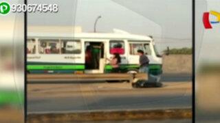 Conductores y peatones no respetan los paraderos en Puente Piedra