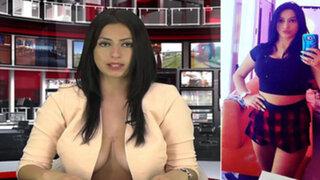 Consiguió trabajo en la televisión tras presentarse al casting casi en topless