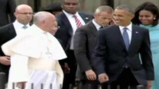 Papa Francisco llegó a Estados Unidos y fue recibido por Barack Obama