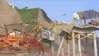 Costa Verde: puentes permanecen en estado de abandono