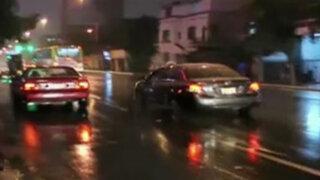 Lluvias de madrugada ocasionan varios accidentes