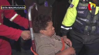 Barrios Altos: pareja de esposos sufre quemaduras tras explosión