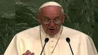 EEUU: papa Francisco fue aplaudido en asamblea de Naciones Unidas