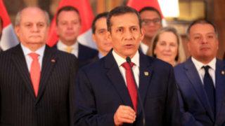 Ollanta Humala dio sorpresivo mensaje presidencial