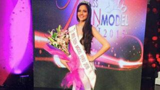 Luciana Fuster se coronó como la nueva Miss Teen Model Perú 2015