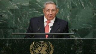 Raúl Castro pidió ante la ONU el fin del embargo estadounidense