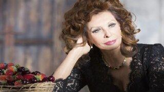 Así luce la actriz Sophia Loren a los 81 años