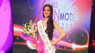 Trendy: revive la coronación de Luciana Fuster como Miss Teen Model Perú 2015