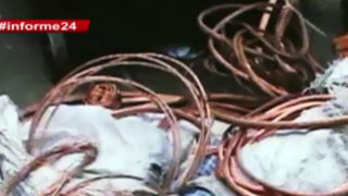 Informe 24: el mercado negro de venta de cables de telefonía