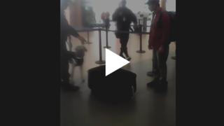 YouTube: mira cómo un joven quería salir del Perú en esta maleta