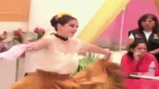 Chiclayo: Katiuska del Castillo baila marinera en penal