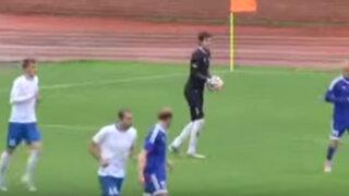 VIDEO: arquero ruso sorprende al anotar un gol desde su propio arco