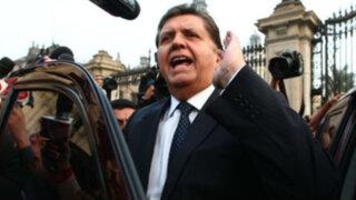 Congresistas critican cuarta candidatura de Alan García