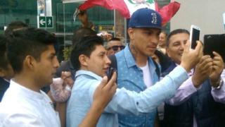 Paolo Guerrero y sus primeras palabras a su llegada a Lima